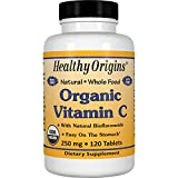 Healthy Origins Vitamin C USDA Organic Non-GMO Natural Tablets, 250 mg, 120 Count For Sale