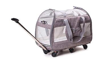 Cutepet Mochila Mascotas Transportín Carrito Multiuso Carrito Perro 2 En 1 Mochila Carrito para Viajes Senderismo