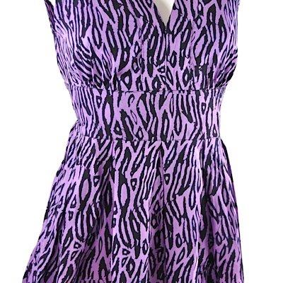 Sugarhill Boutique - Vestido - cuello en V - Sin mangas - para mujer Purple - Purple-Black