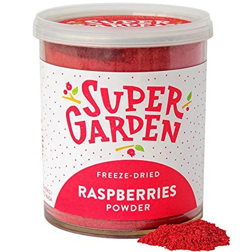 Super Garden gevriesdroogde frambozenpoeder – 100% puur en natuurlijk – Veganistisch – Zonder toegevoegde suiker…