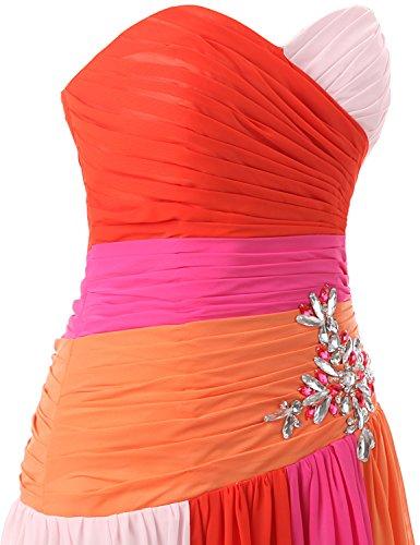 Fuchsia Damen Maxikleid Clearbridal UK18 Abendkleid Formale Brautjungfer Kleid Farbverlauf Bandage Chiffon SD063 SOwq7xUwR
