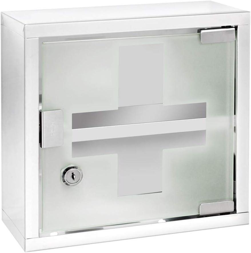 Wenko Botiqu/ín Inox Acero Inoxidable Plata Brillante 25 x 25 cm
