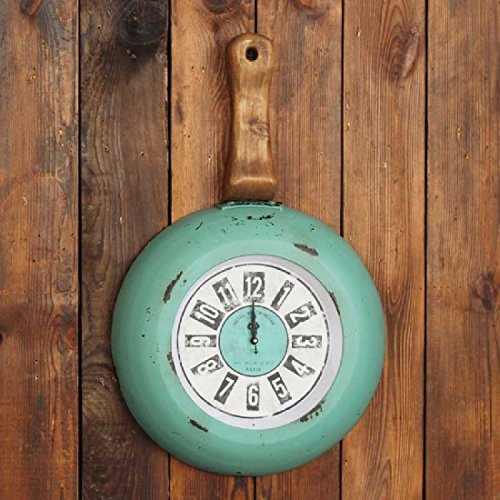OLQMY-Luxury home decoration American Style Old Pieves Walls, Walls Clocks, Bars Restaurants Cafes Walls Wallpapers, Green Wall