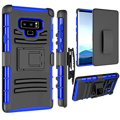 Galaxy Note 9 Holsters Clips Case, Galaxy Note 9 Case, Jeylly [Belt Clip] Full Body Rugged Shockproof Heavy Duty Kickstand Carrying Armor Combo Cases Cover Samsung Galaxy Note 9 N960F - Blue