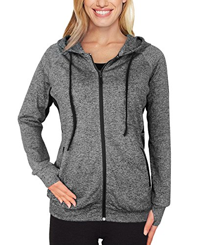 Timeson Women Hoodie Jacket, Women Athletic Burnout Light Weight Soft Hoodie Black...