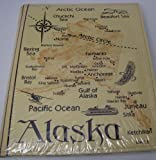 Alaska State Map Embossed Leather Photo Album 200 Photo by Arctic Circle
