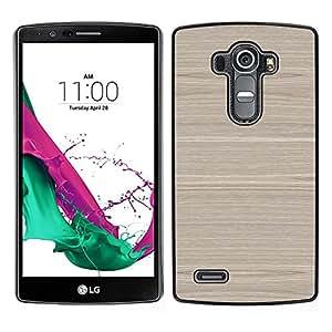 LG G4 / H815 H812 H810 H811 LS991 VS986 US991 Único Patrón Plástico Duro Fundas Cover Cubre Hard Case Cover - Grain Texture Brown Horizontal Birch
