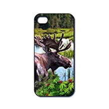 Dimension 9 3D Lenticular iPhone 5/5s Cell Phone Cover - Retail Packaging - Moose by the Lake