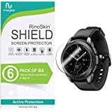 RinoGear for Samsung Galaxy Watch 42mm / Gear S2 / Gear Sport Screen Protector [6-Pack] Case Friendly Screen Protector for Samsung Galaxy Watch 42mm / Gear S2 / Gear Sport Accessory Clear Film