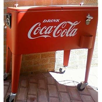 Amazon Com Drink Coca Cola Giant 18 Quot White Old Time Vinyl