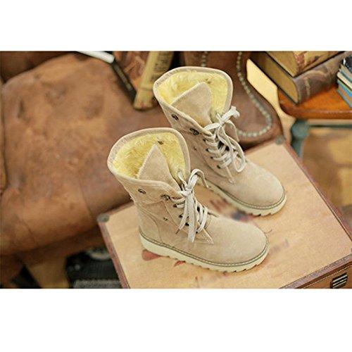 Stivali femminili Inverno Fondo spesso Tacco basso Scrub Stivali centrali , 41