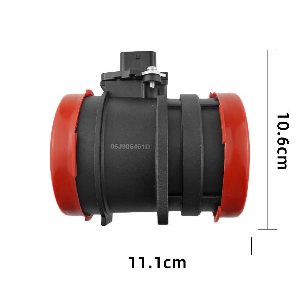06J906461D Mass Air Flow Sensor Meter MAF For VW 09-13 Audi A3 Quattro 10-12 Audi A5 Quattro 07-13 Audi TT 09-13 Volkswagen GTI 2505079 AFH6037