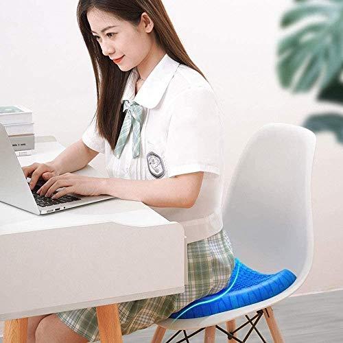 qwe XISABCS sommar cool dyna gel sittkudde, halkskydd överdrag, sittkudde för bilen, kontoret, rullstol och stol. Andningsbar design, hållbar, bärbar