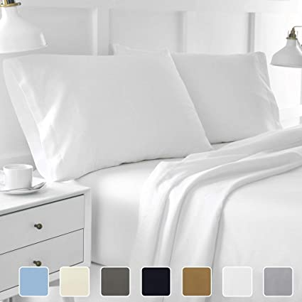 Ultra Soft 6 Piece Bed Sheet Set Hypoallergenic /& Wrinkle Resistant Non-Piling