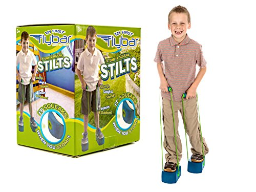 Flybar My First Stilts - Stomp & Squeak Foam Stilts for Kids 3 & Up (Blue)]()