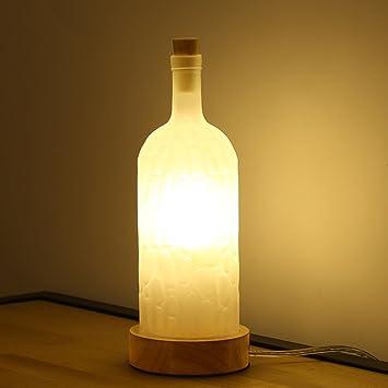 Pointhx Moderna Botella de Vidrio Simple Lámpara de Mesa ...