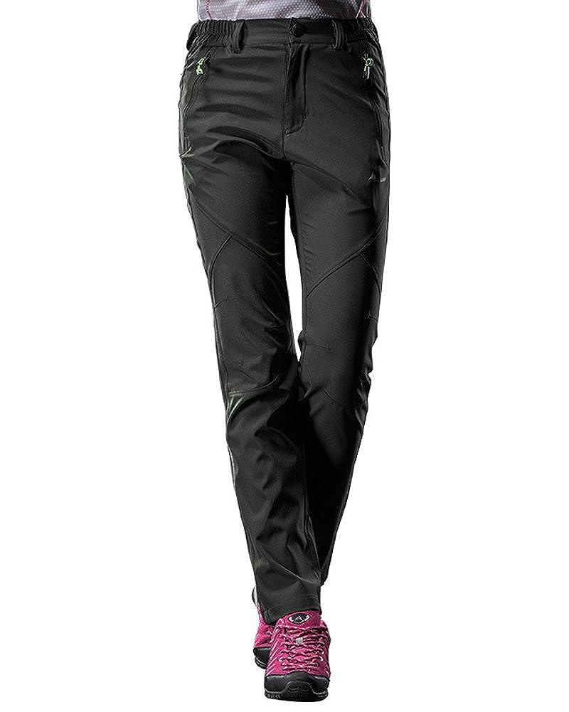 Tomwell Mujer Verano Pantalones de Montaña Trekking Pantalones Impermeables Respirable Softshell de Senderismo Pantalones de Pareja JQ180502XJ-DE08