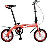 Cheap Camp 14″ Folding Bike Alloy Single Speed Q2 (Red)