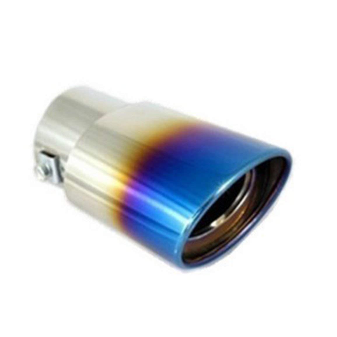 Auto punta del silenziatore in acciaio inox per dare al Chrome Effect Fit 1, 5 a 2 pollici Morsetti tubo di scarico del diametro di installazione incluso Fantasyworld
