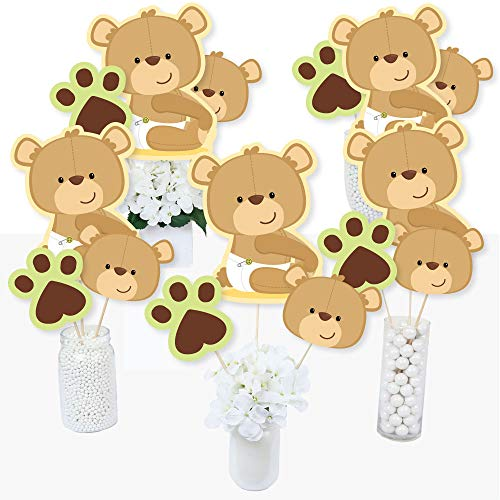 Baby Teddy Bear - Baby Shower Centerpiece Sticks - Table Toppers - Set of 15
