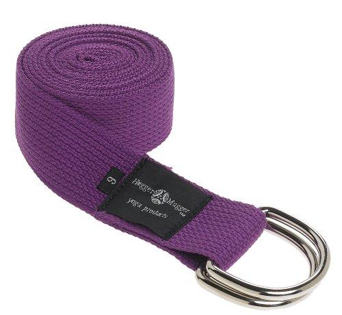 Hugger Mugger D-Ring Yoga Strap 6-Foot (Purple)