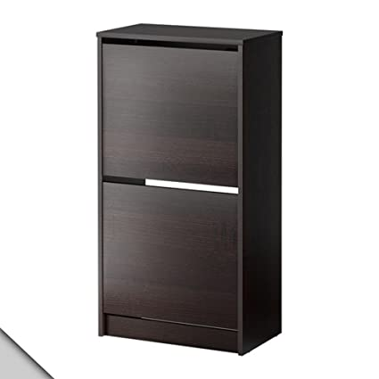 Amazoncom Ikea Bissa Shoe Cabinet With 2 Compartments Black