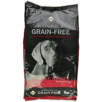 Diamond Naturals Grain Free Beef & Sweet Potato for Dogs, 5-Pound Bag