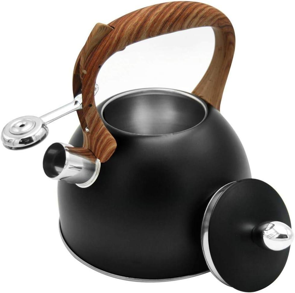 ORION Wasserkessel Wasserkocher Teekessel Fl/ötenkessel Modern automatisch Grau Holz-Farbe 2,5L Gas Induktion