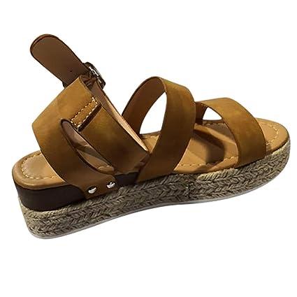 Romaines Sandals Femmes Talon Plateforme Sandals avec Boucle