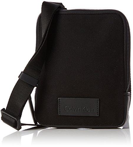 (Calvin Klein Modern Bound Mini Reporter, Men's Shoulder Bag, Black, 4x18x18 cm (B x H T))