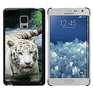 Paccase / Dura PC Caso Funda Carcasa de Protección para - Tiger Snow White Nature Indian African Furry - Samsung Galaxy Mega 5.8 9150 9152