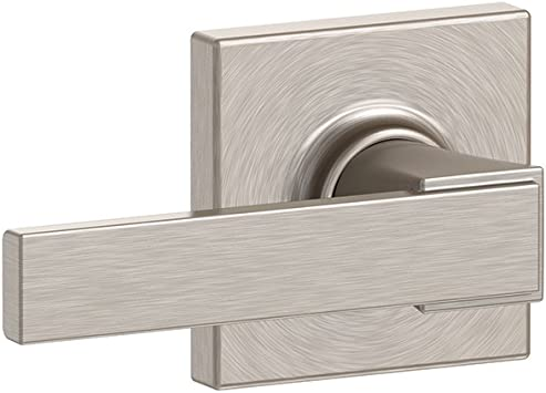 Satin Nickel Schlage Lock Company Schlage F10 NBK 619 COL Collins Trim Northbrook Hall and Closet Lever