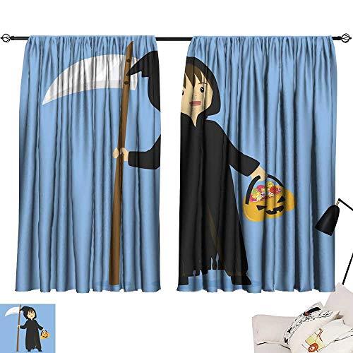 SINXY&CASE Bedroom Curtains Halloween Grim Reaper Costume Vector 72