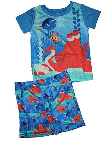[Disney Pixar Finding Dory Little Boys Shorts Pajamas Set 2T-5T (4T)] (Finding Nemo Costume 2t)