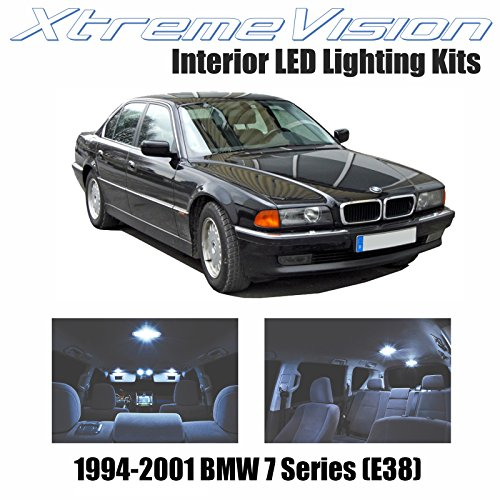 01 Bmw E38 Led - XtremeVision Interior LED for BMW 7 Series (E38) 1994-2001 (14 Pieces) Cool White Interior LED Kit + Installation Tool