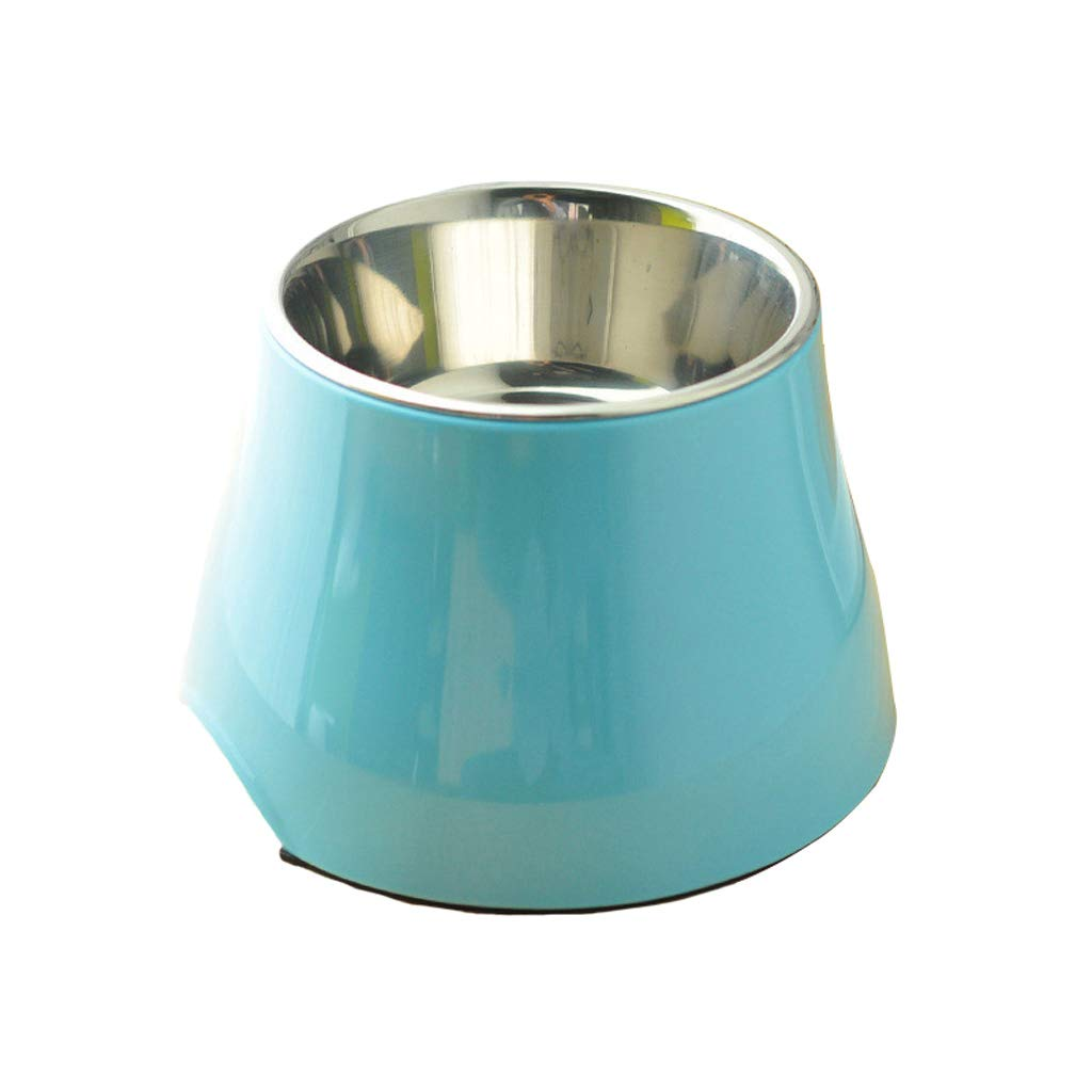 A L A L Ultra Time Empty Pet Feeder High Bowl Dog Food Bowl Small And Medium Dog Rice Bowl Stainless Steel Straight Bowl Non-slip Rubber Wear Base (color   A, Size   L)
