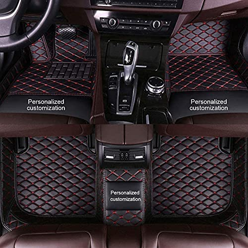 Custom Car Floor Mats for Toyota, All Weather Protection for Toyota Floor Mats, Waterproof Non-Slip Customize Text or Patterns for Toyota Camry Corolla RAV4 Prius Crown Yaris Car Mats Black Red