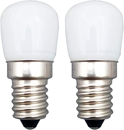 2 Pieza 2.5W E14 LED Bombilla KingYH E14 ESE Frigorifico Bombilla Blanco Cálido 3000K AC220V 200LM Equivalente 25W Halógeno para Campana Extractora Máquina de Coser Bombilla [Eficiencia Energética A+]: Amazon.es: Hogar