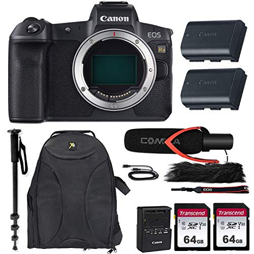 Canon EOS Ra Mirrorless Camera (Body Only) w/Extra Canon LP-E6N Battery Pack + Pro Microphone, Gadget Backpack, 2X 64GB Memory Cards & Accessory Bundle