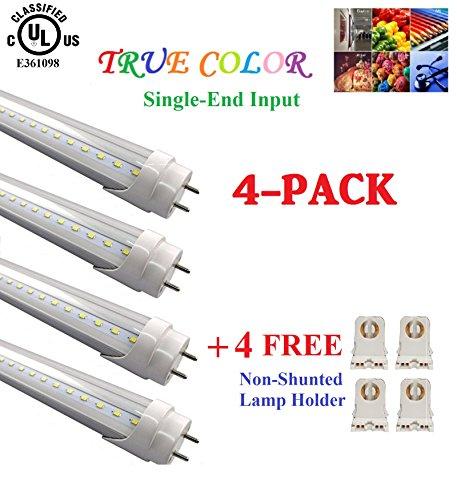(4-pack) True-color & Ul Listed-g13 T8 Led Tube Lights-4f...