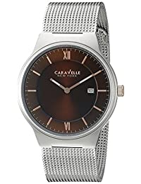 CARAVELLE NEW YORK Men's 45B138 Analog Display Quartz Silver Watch