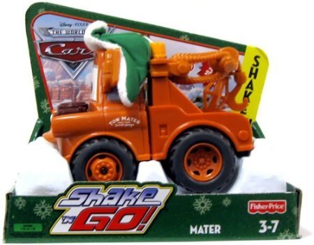 Shaken Go Mater - Disney Pixar Cars Shake N Go Limited Edition Mater in Winter Attire