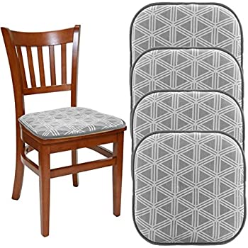 Dream Home (Set Of 4) Nonslip Chair Pads For Office Chairs, Grey 16