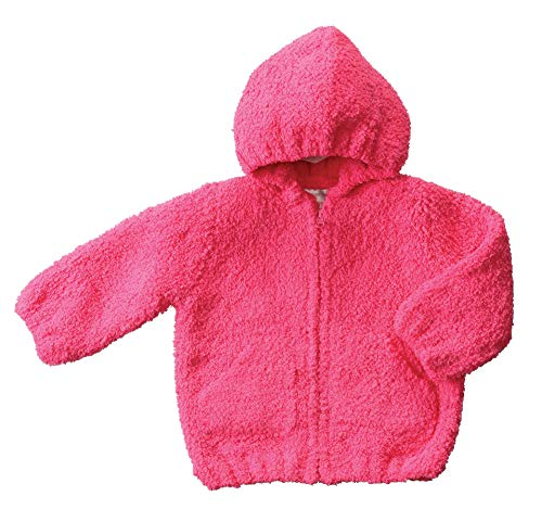 Angel Dear Baby Girls' Chenille Hooded Jacket, Fuchsia Pink, 12 18 Months ()