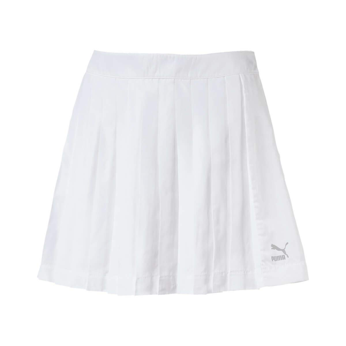 ff69fe1fc6 Puma Archive Pleats T7 Sport Skirt For Women, Small White: Amazon.ae