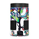 Monstek Protective Case for Amazon Echo (2nd Generation) - Premium PU Leather Carrying Travel Cover with Strap Sleeve Skins,Lucky Tree