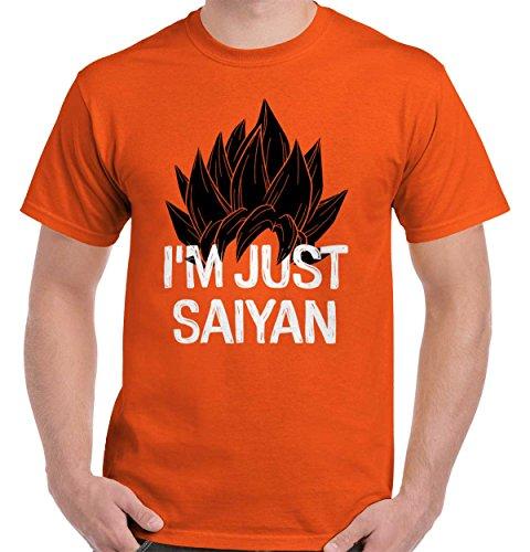 Just Saiyan Cute Shirt Goku Gift Dragon Idea Ball Z Cool Edgy T Shirt Tee