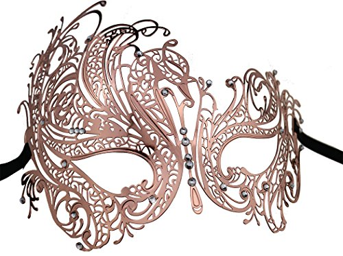 [Metal Lady Masquerade Mask Halloween Mardi Gras Party Mask] (Masquerade Mask For Prom)