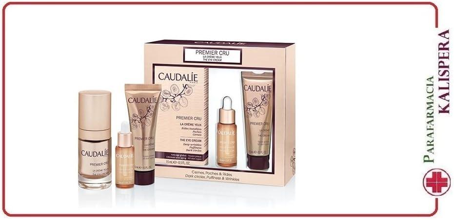 Caudalie - Estuche Premier Cru para contorno de ojos, arrugas persistentes, bolsas y ojeras: Amazon.es: Belleza