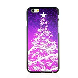 """INASK Glow in the dark luminous effect fluorescent Merry Christmas Back Cover Case for iPhone 6 (4.7"""") Lila Christmas Tree"""